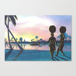 River Side Maidens Canvas Print