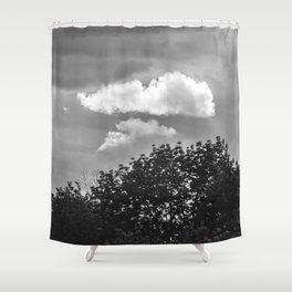 Silver Cloud Shower Curtain