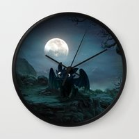 lannister Wall Clocks featuring TOOTHLESS halloween by kattie flynn