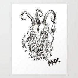 Goaticorn Art Print