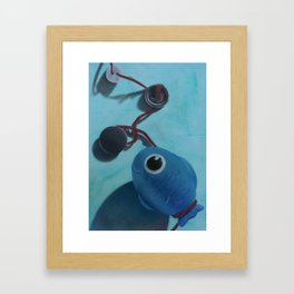 Little Blue Framed Art Print