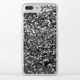 Gray Black Night Glitter #1 #shiny #decor #art #society6 Clear iPhone Case