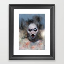 The ikebana woman Framed Art Print