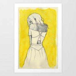 Self in Yellow Art Print