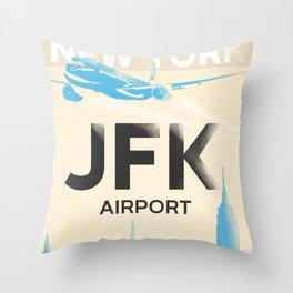 JFK stylish airport code Throw Pillow