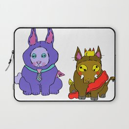 Stuffies Prince Hog & Busy Bunny Laptop Sleeve
