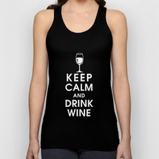 Keep Calm and Drink Wine Unisex Tank Top
