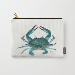 """""""Blue Crab"""" by Amber Marine ~ Watercolor Painting, Illustration, (Copyright 2013) Carry-All Pouch"""