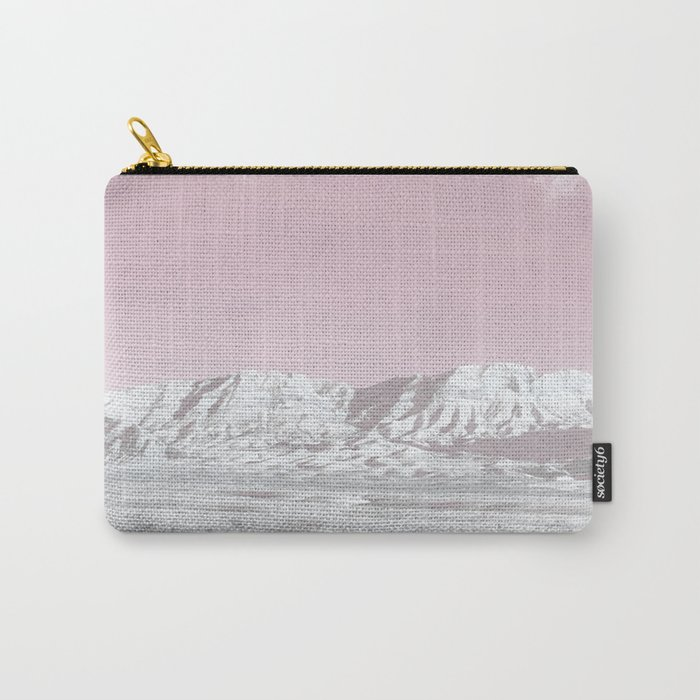 Mojave Snowcaps // Las Vegas Nevada Snowstorm in the Red Rock Canyon Desert Landscape Photograph Carry-All Pouch