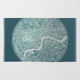 London Map Planet Rug