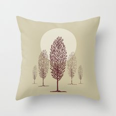Terra di siena Throw Pillow