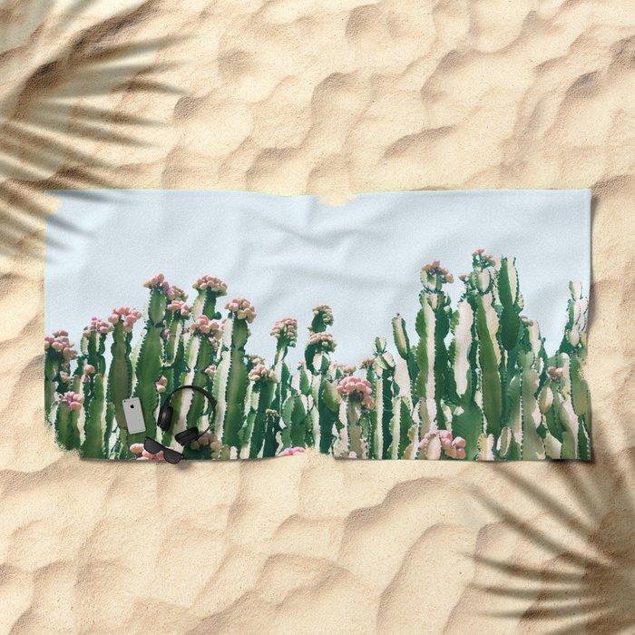 Blush Cactus #society6 #decor #buyart Beach Towel
