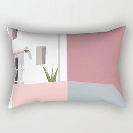 Postcard in pink Rectangular Pillow