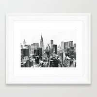 Framed Art Prints featuring New York City by Vivienne Gucwa