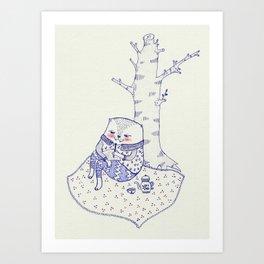 the tree. Art Print