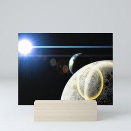 Moon Earth Mini Art Print