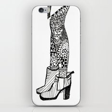 Doodle Boots iPhone & iPod Skin