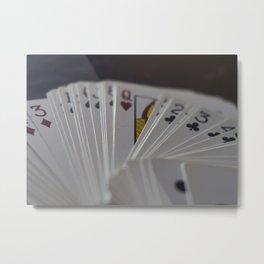 Games We Play - Cards Metal Print