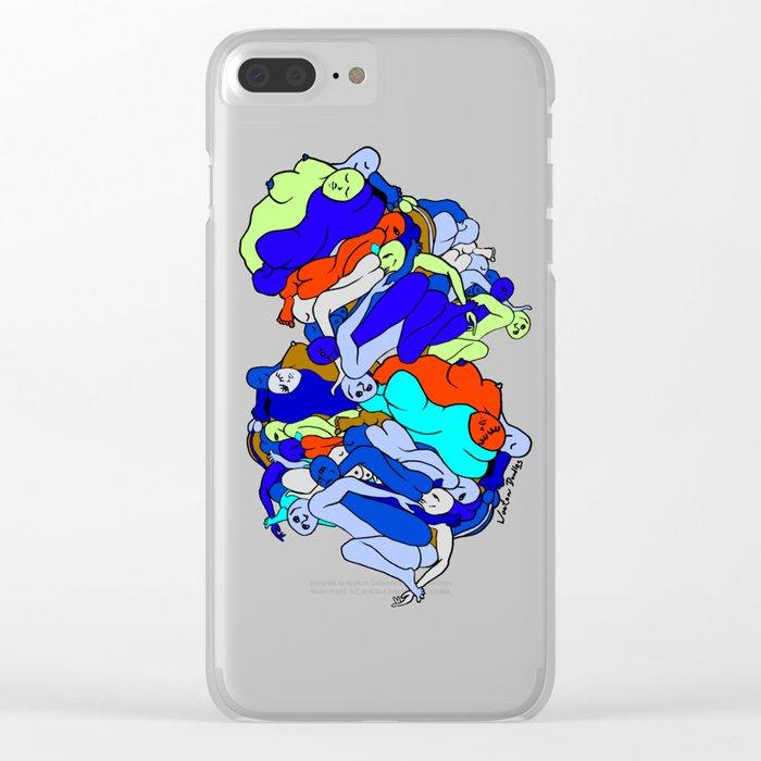 Sleepy Heads - Sapphire Blue Clear iPhone Case