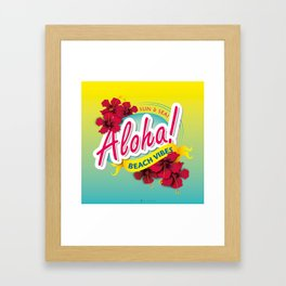 Aloha Beach Vibes I Framed Art Print