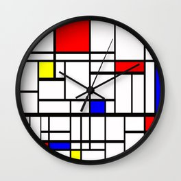 Mondrian inspired Wall Clock