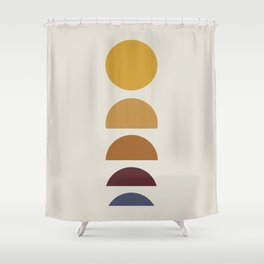 Minimal Sunrise / Sunset Shower Curtain