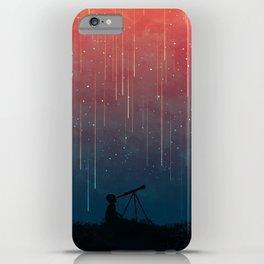 Meteor rain iPhone Case
