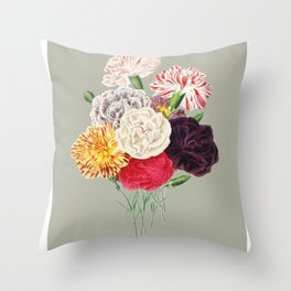 Colorful Flower Bouquet Throw Pillow