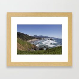 Cannon Beach View from Ecola Park Framed Art Print