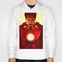 robert downey jr Hoodies featuring Iron Man *** by Hands in the Sky