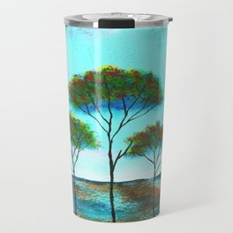 Blessings, Skinny Trees Rustic Art Travel Mug
