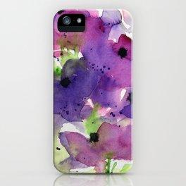 purple flowers in the garden iPhone Case