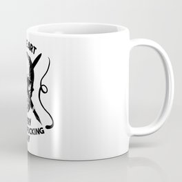 Make Art Every Motherfucking Day (black on white) Coffee Mug