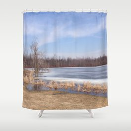 From winter to spring Shower Curtain
