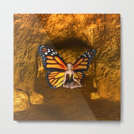 Cave Dweller Butterfly Fairy Metal Print