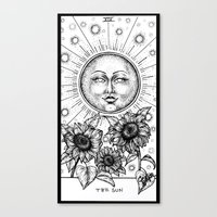 tarot Canvas Prints featuring Sun Tarot by Corinne Elyse