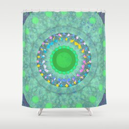Flowers in Glass One Shower Curtain