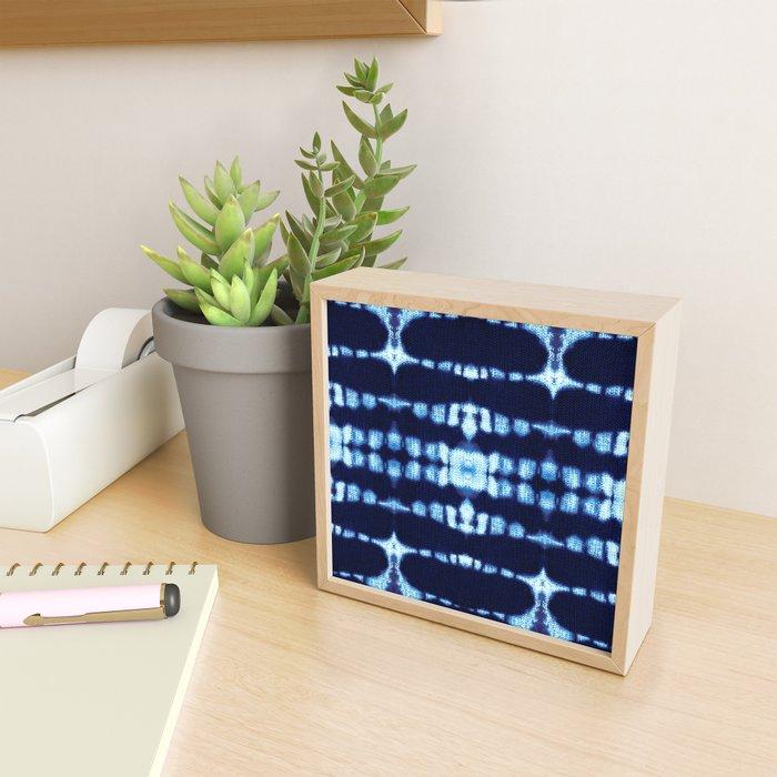 Tie-Dye Boho Knit Framed Mini Art Print