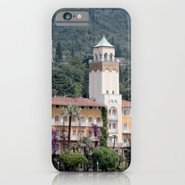 Garda Lake in Italy, one of the beautiful hotels iPhone Case