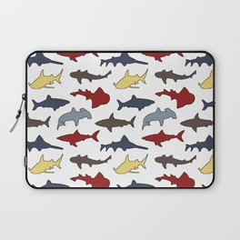 Sharks in Nautical Colors Laptop Sleeve
