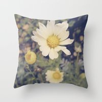 vintage flowers Throw Pillows featuring Vintage flowers by Herzensdinge