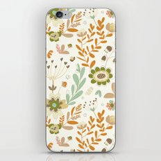 Little Creme Garden Flowers iPhone & iPod Skin
