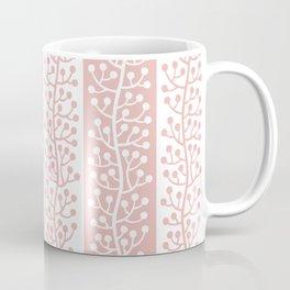 Mid Century Modern Berry Vine Stripes Dusty Rose Coffee Mug