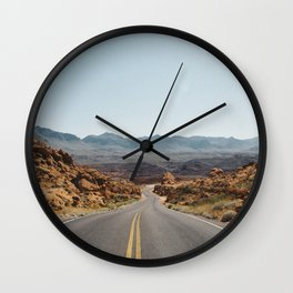 On the Desert Road Wall Clock