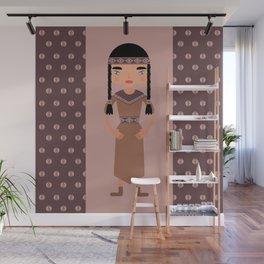 Native American Girl  Wall Mural