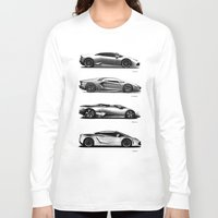 lamborghini Long Sleeve T-shirts featuring The Lamborghini Collection by Mark Rogan