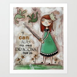 Dragonslayer - by Diane Duda Art Print