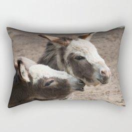 The donkeys Rectangular Pillow