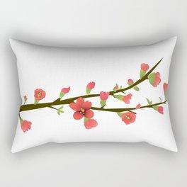 Flowering Quince Flowers Rectangular Pillow