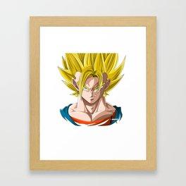 Vegeth super Saiyan Framed Art Print